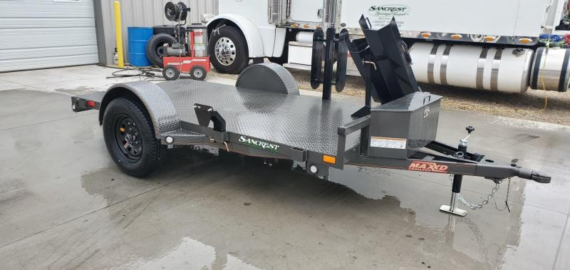 2020 MAXXD 61X10 SINGLE 3.5K GRAY METALLIC WELDING TRAILER W/STEEL FLOOR
