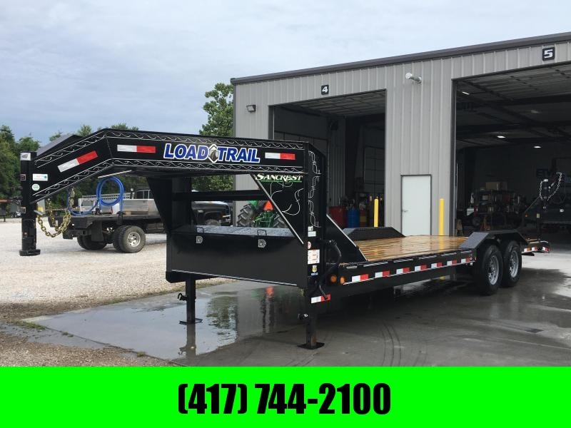 2019 Load Trail 102x24(22+2) TANDEM 14K GOOSENECK CAR HAULER W/DRIVEOVER FENDERS & SLIDE OUT RAMPS
