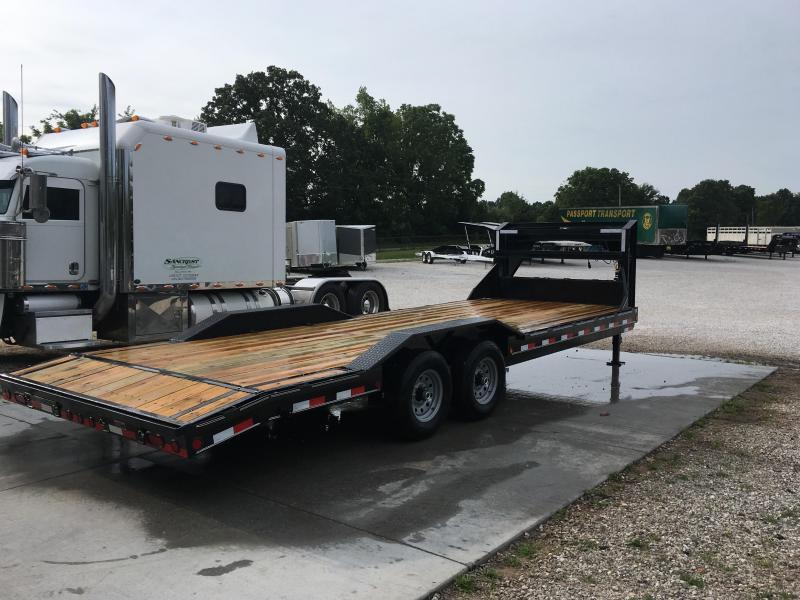 2019 Load Trail 102x24(22+2) TANDEM 14K GOOSENECK CAR HAULER W/DRIVEOVER FENDERS & SLIDE OUT RAMPS