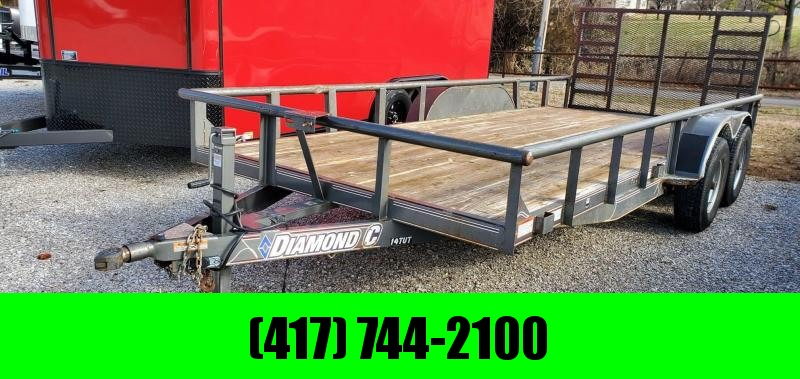 2016 Diamond C 82X18 TANDEM 10K METALLIC GRAY HD UTILITY W/SPRING GATE