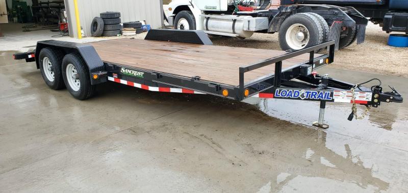 2018 Load Trail 83X18 TANDEM 10K CAR HAULER W/2FT DOVE & SLIDE OUT RAMPS
