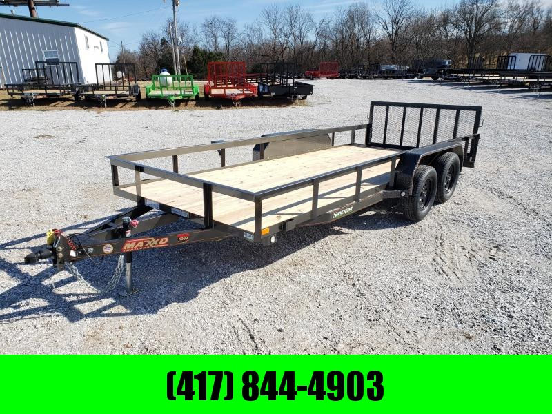 "2020 MAXXD 83X18 TANDEM 7K UTILITY W/2FT DOVE TAIL & 30"" SPRING GATE"