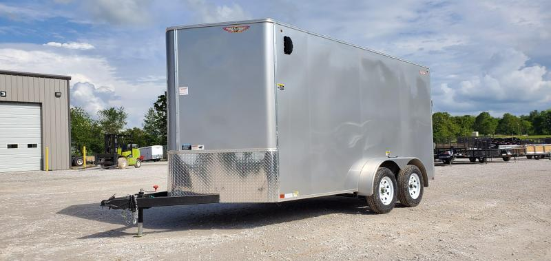 """2020 H and H 7X14 TANDEM 7K SILVER METALLIC MIST CARGO W/6'6"""" HEIGHT"""