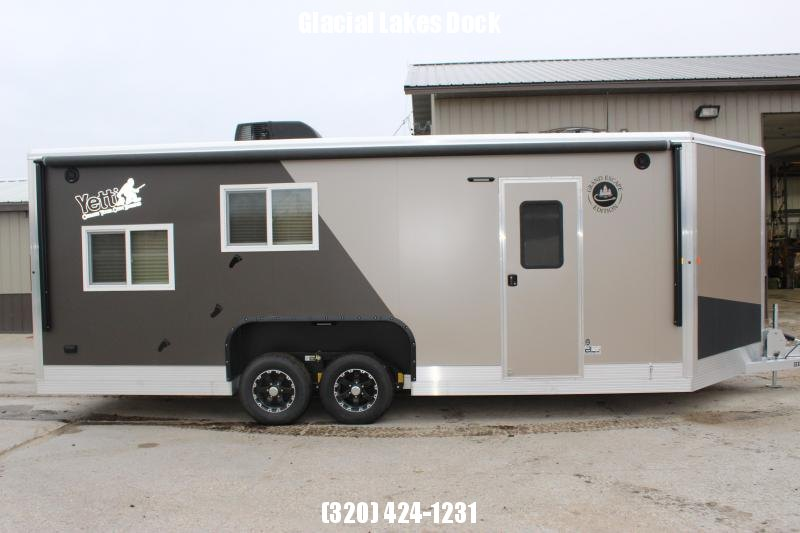2020 Yetti Grand Escape GE821DRKF Ice/Fish House Trailer