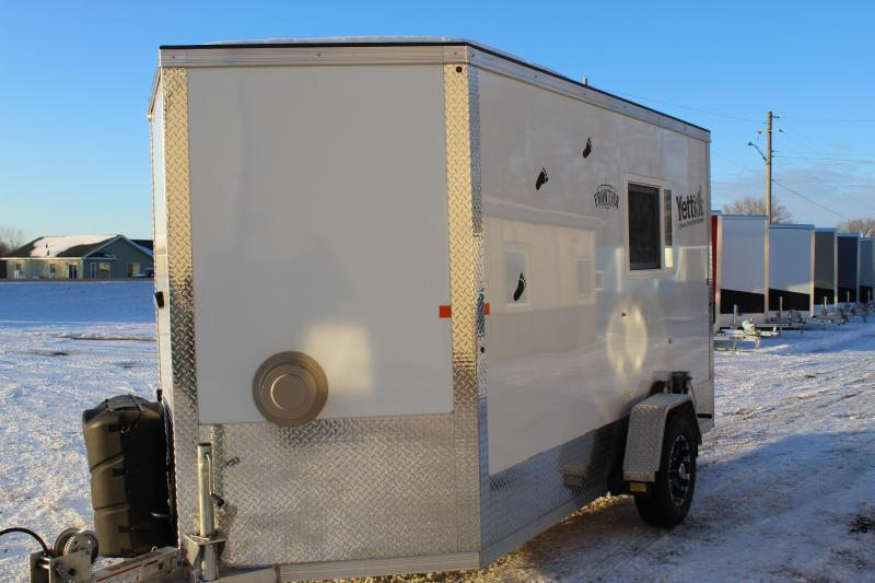 2017 Yetti Frontier 6.5x12 Ice/Fish House Trailer