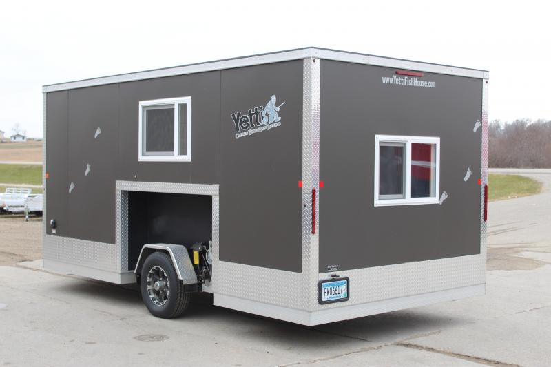 2017 Yetti 8x16 Ice/Fish House Trailer