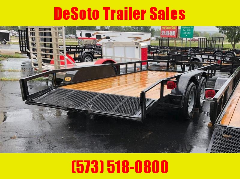 "2019 Rivercraft 82"" x 16' Tandem Axle Utility Trailer"