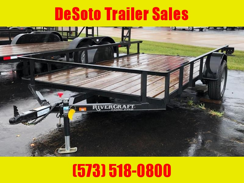 "2018 Rivercraft 82"" x 12' Single Axle Utility Trailer"