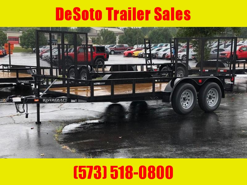 "2019 Rivercraft 82"" x 14' Tandem Axle Utility Trailer"