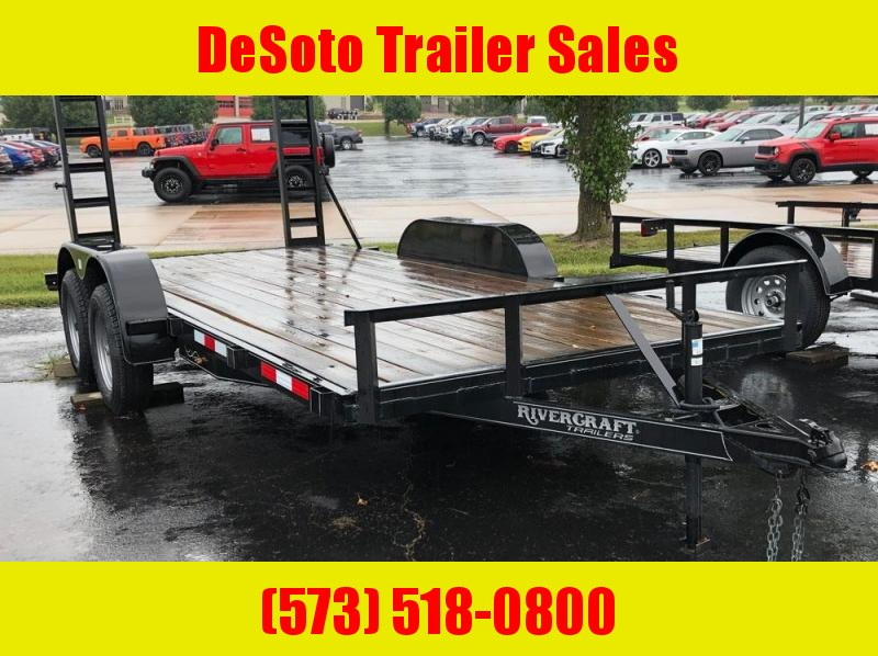 "2018 Rivercraft 82"" x 16' Tandem Axle Utility Trailer"