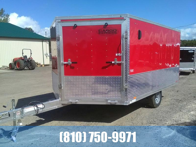 2020 Cargo Express AXDFT85X12 Drive On Drive Off Snowmobile Trailer