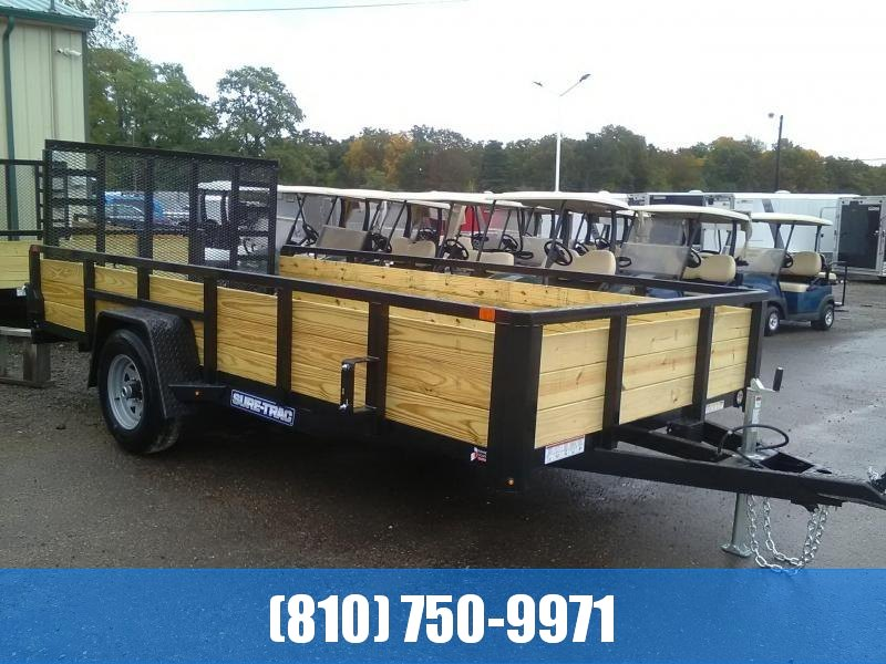 2020 Sure-Trac 7x14 3-Board High Side 5K with Brakes Utility Trailer