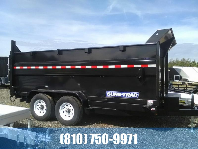 2019 Sure-Trac 7X14 14K Scissor Hoist Dump Trailer with 4' Sides
