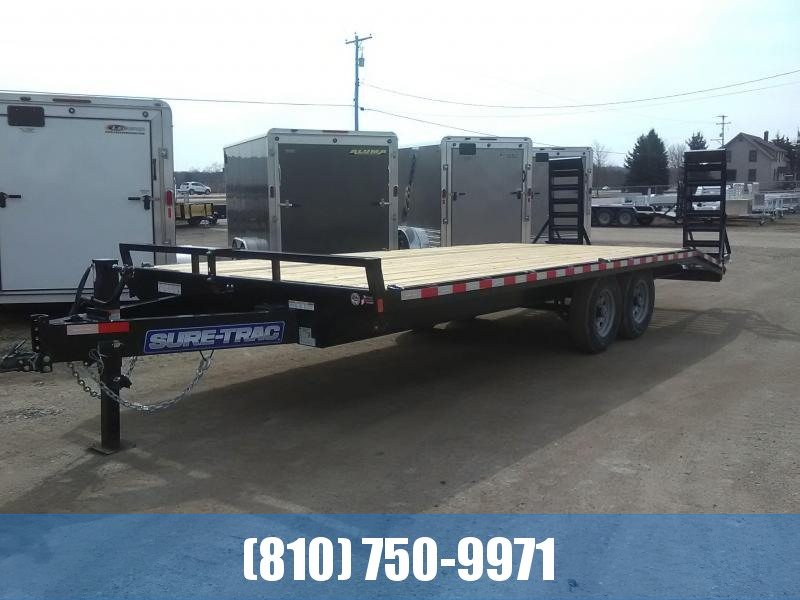 2020 Sure-Trac 8.5 x 18 + 4 15K BP Standard Duty Beavertail Deckover Flatbed Trailer