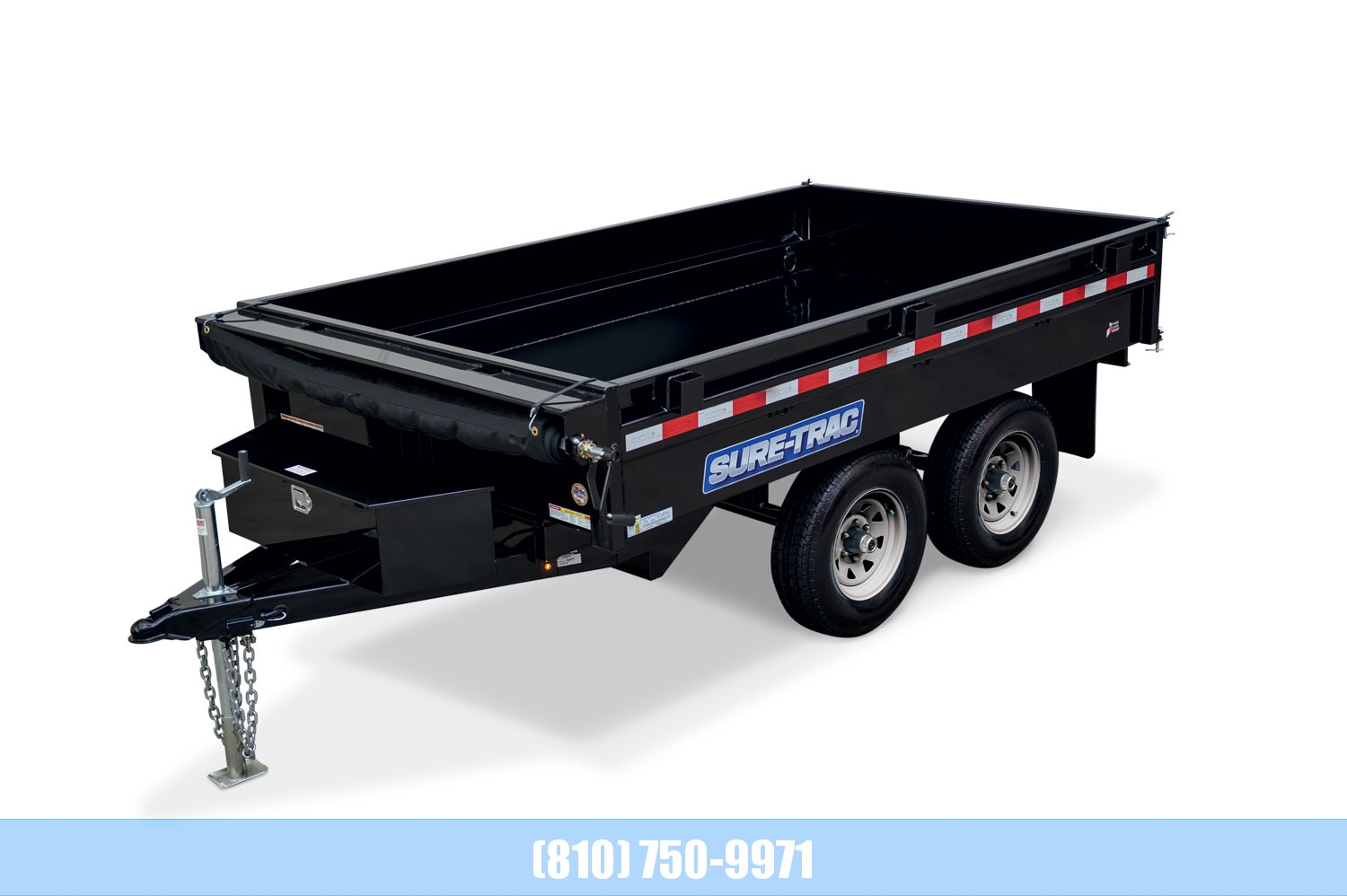 2020 Sure-Trac 6 X 10 Deckover Dump 7K Single Ram