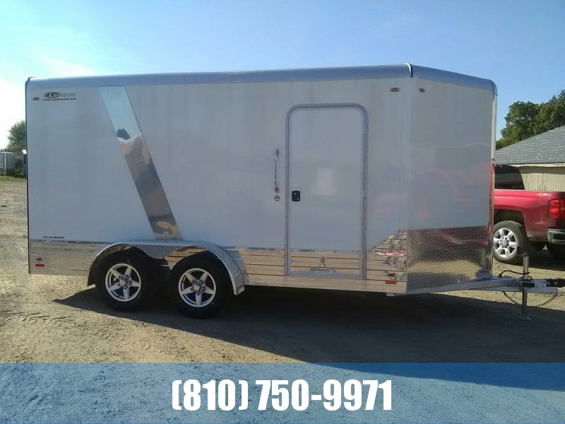 2018 Legend 7x17 Deluxe V-Nose All-Aluminum Enclosed Trailer