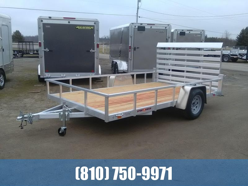 2020 Sport Haven 7x12 Aluminum Utility Trailer