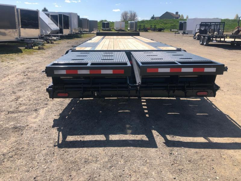 2020 Sure-Trac 8.5 x 2 + 5 17.6K HD Flatbed & Beavertail Deckover Equipment Trailer
