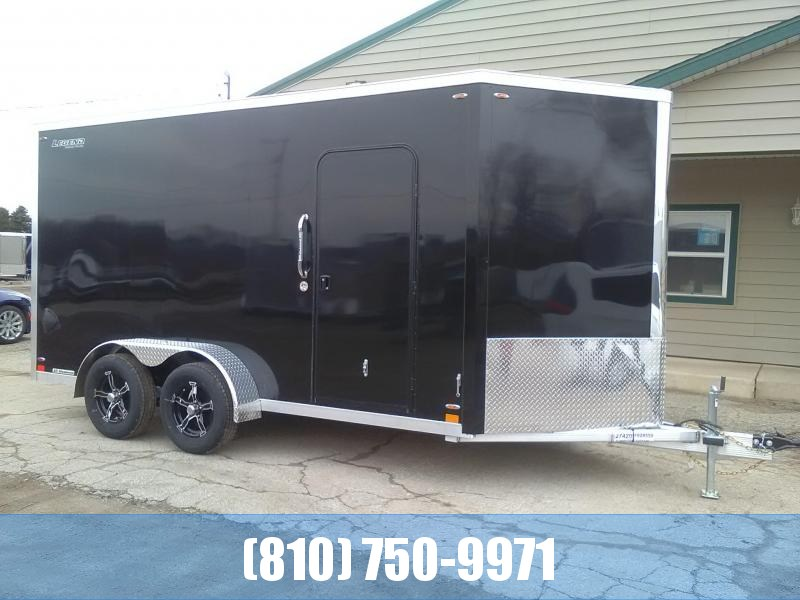 2020 Legend Manufacturing 7x17 Flat-Top V-Nose All-Aluminum Enclosed Cargo Trailer