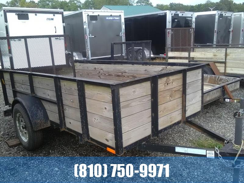 Used 2013 AMO 5x10 with Wood Sides Utility Trailer