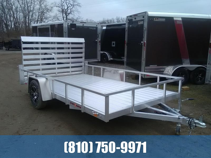 2020 Sport Haven 7x12 All-Aluminum Utility Trailer