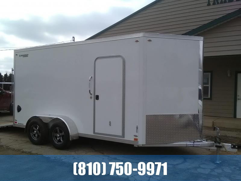 2020 Legend Manufacturing 7x17 Flat-Top V-Nose All Aluminum Enclosed Cargo Trailer
