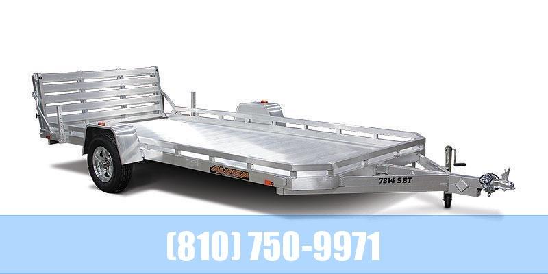 2021 Aluma 7814ST Utility Trailer with Bi-Fold Tailgate