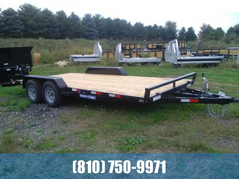 2020 Sure-Trac 7 X 18 Wood Deck Car Hauler  7k