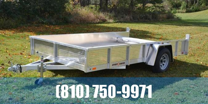 2020 Sport Haven 7x12 Aluminum Utility Trailer with Sides