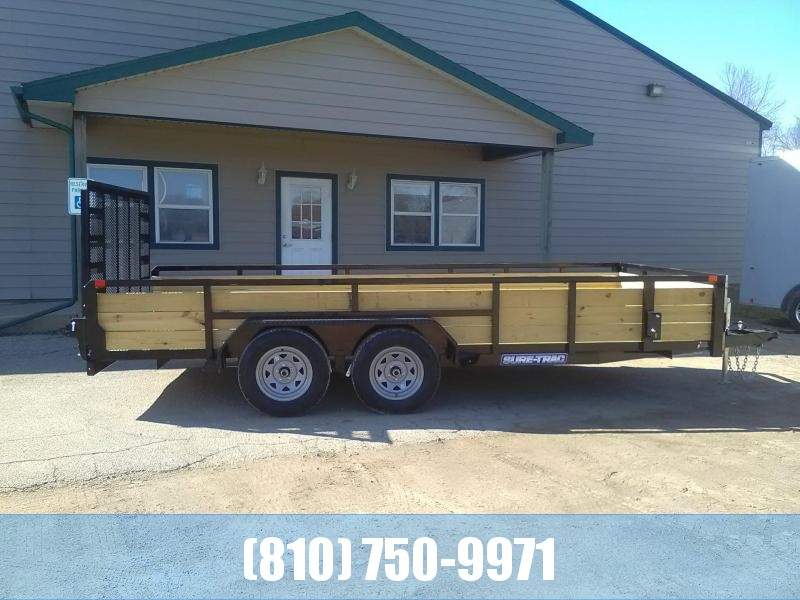 2020 Sure-Trac 7 X 16 TA Tube Top 3-Board High Side Utility Trailer