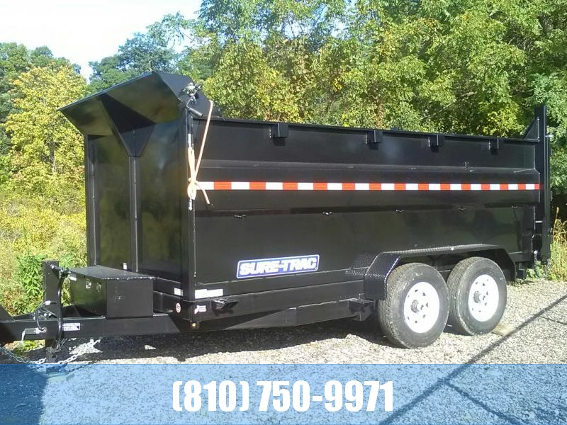 2019 Sure-Trac 7X14 14K Dump Trailer with 4' Sides