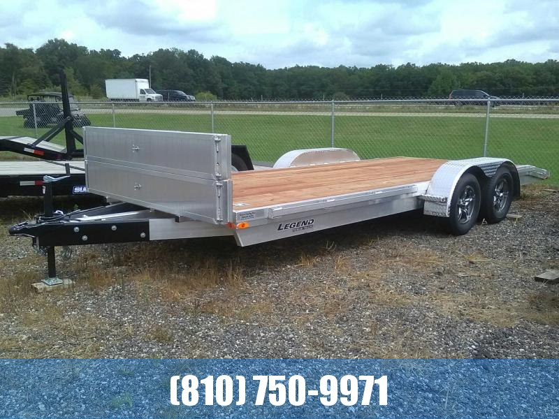 2020 Legend 7X20 Open Aluminum Car Hauler