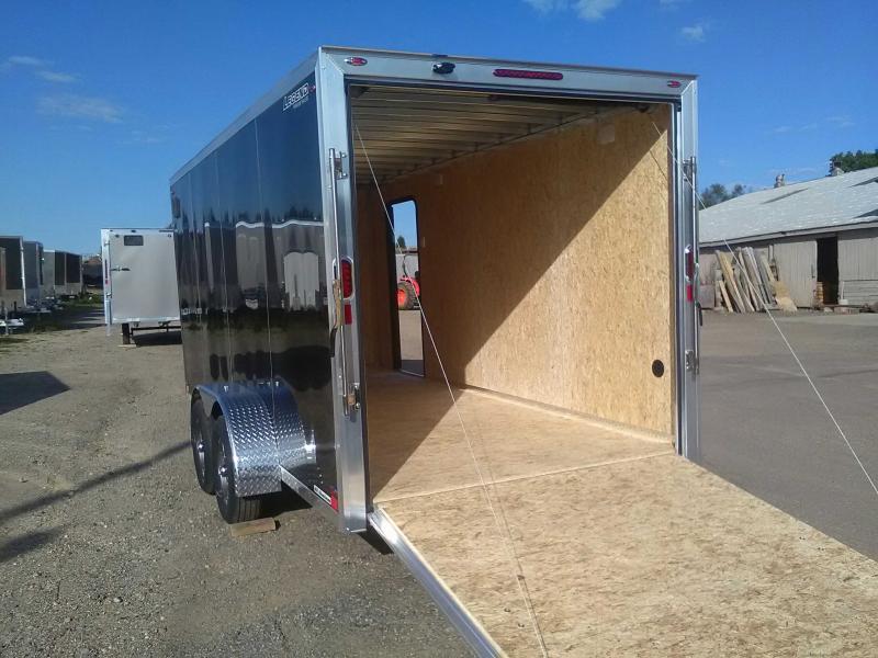 2020 Legend Manufacturing 7X19 Flat-Top V-Nose Enclosed Cargo Trailer