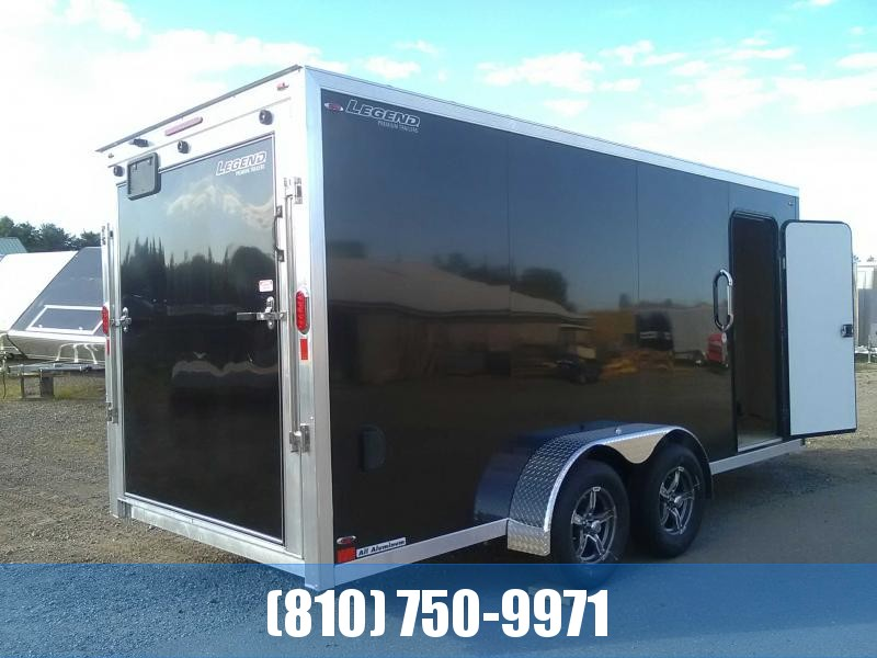 2020 Legend Manufacturing 7X19 Flat-Top V-Nose Enclosed Cargo Trailer