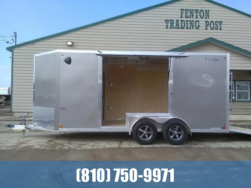 2020 Legend 7x19 Flat-Top V-Nose Enclosed Cargo Trailer with Gull Wing Escape Door