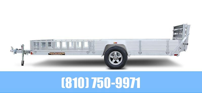 2021 Aluma 8114SR Utility Trailer with Side Loading Ramps