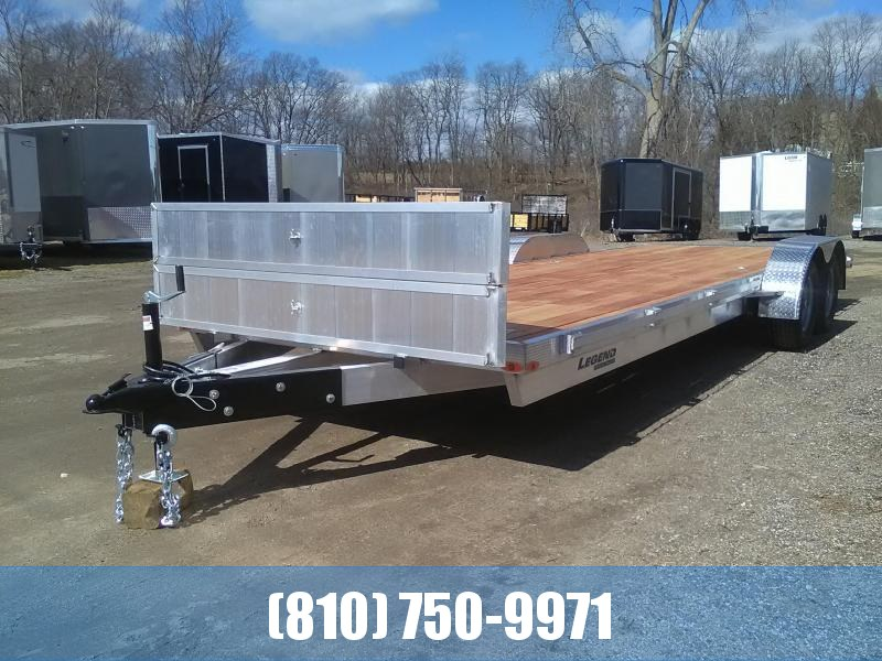 2021 Legend Manufacturing 7x24 Aluminum Car Hauler with Wood Deck Car / Racing Trailer
