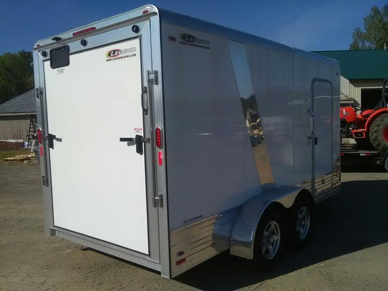 CLEARANCE! New 2018 Legend 7x17 Deluxe V-Nose All-Aluminum Enclosed Trailer