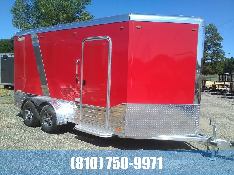 PRICE REDUCED! 2019 Legend 7x17 Deluxe V-Nose Enlclosed Trailer