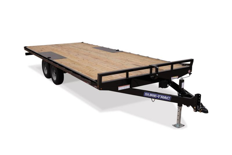 2019 Sure-Trac 8.5 x 20 10K Low Profile Flatbed Deckover Flatbed Trailer