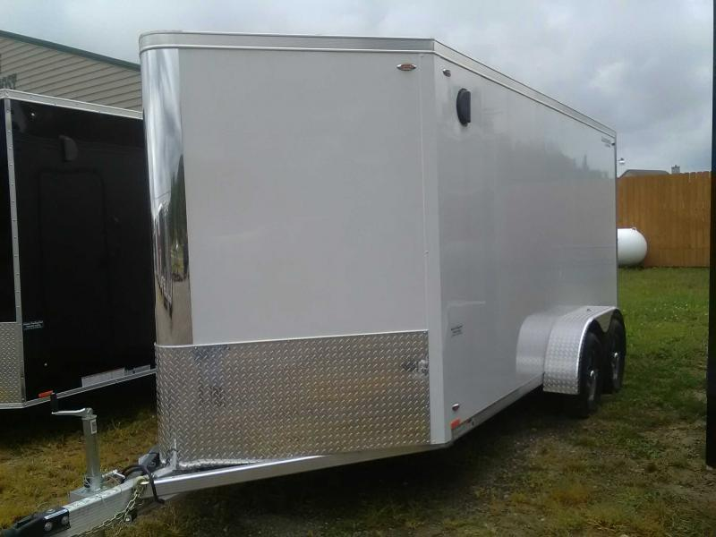 2020 Legend 717 Flat-Top V-Nose Aluminum Enclosed Trailer