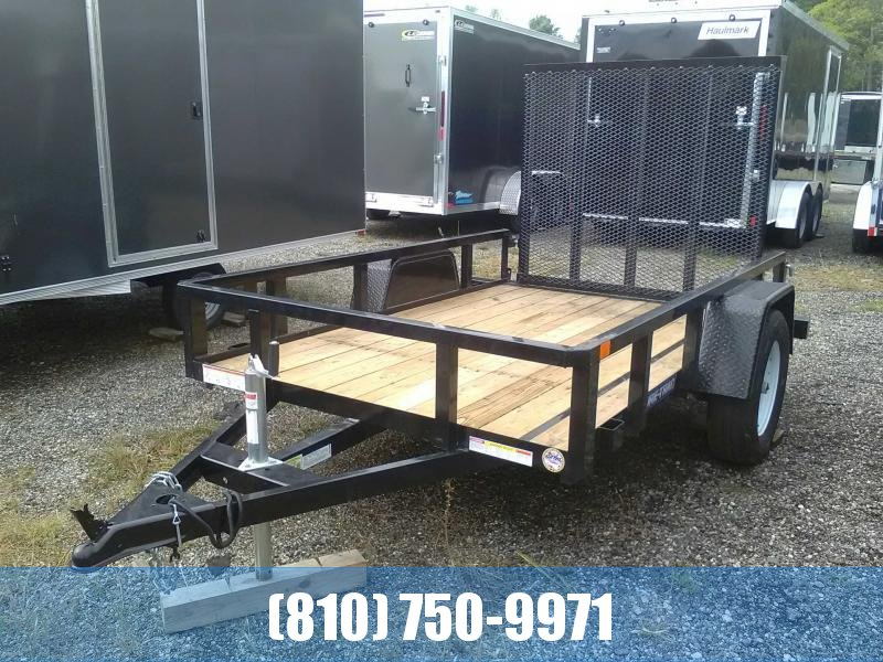 Used 2018 Sure-Trac 5 X 8 SA Tube Top Utility Utility Trailer