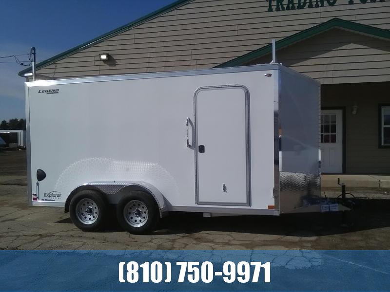 2020 Legend 7x16 Enclosed Cargo Trailer with Ladder Racks