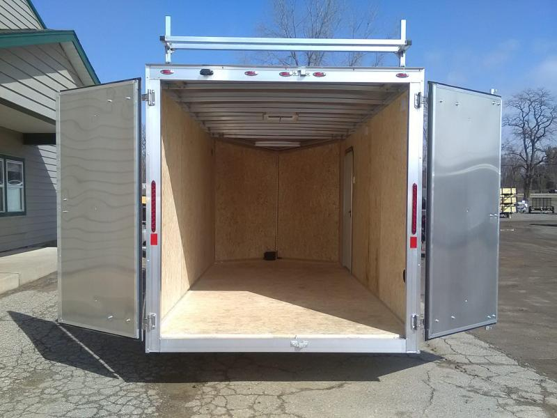 2020 Legend 7x16 Enclosed Cargo Trailer with Ladder Racks