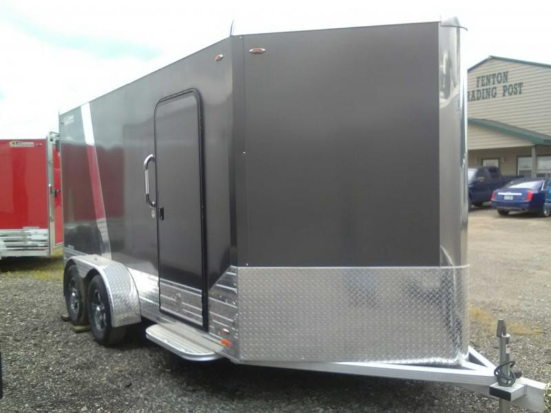 2019 Legend 7x17 Deluxe V-Nose All Aluminum Enclosed Cargo Trailer