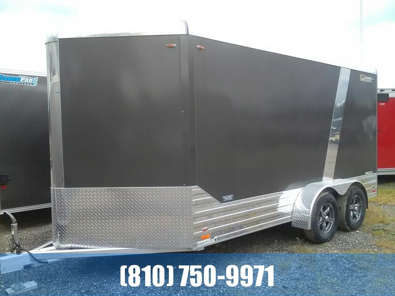 2019 Legend 7x17 Deluxe V-Nose All Aluminum Enclosed Cargo Trailer
