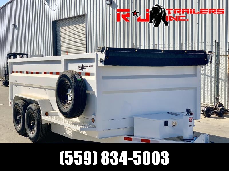 *2020 R&J Custom 7'x14' 14k HD Dump *  *3' FORMED WALLS