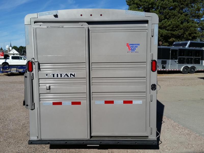 2019 Titan Trailers 24 STOCK COMBO Livestock Trailer