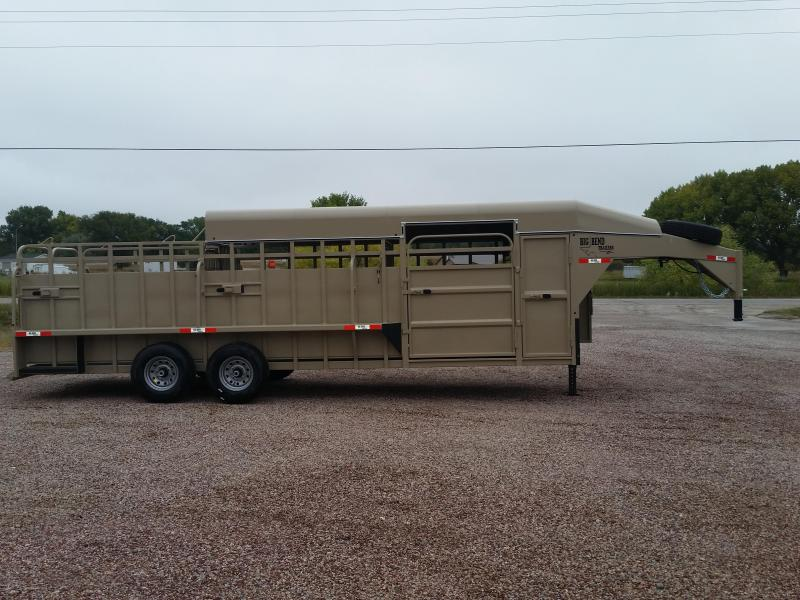 2020 Big Bend 24 3/4 TOP SADDLE BOX Livestock Trailer