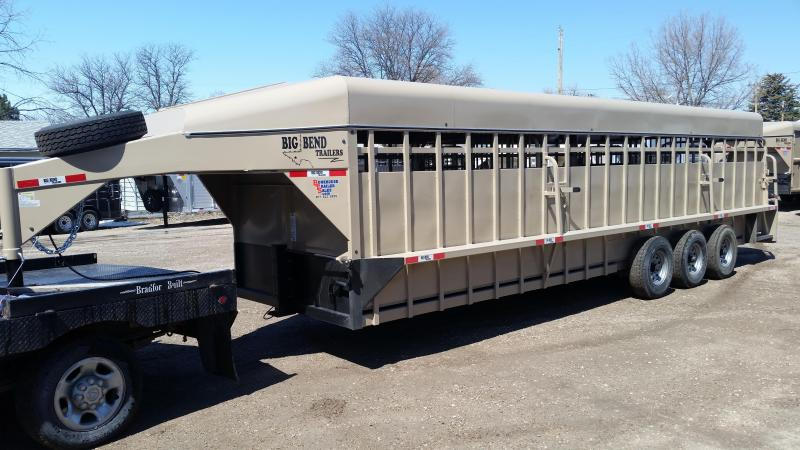 2020 Big Bend 28' TRIPLE AXLE Livestock Trailer